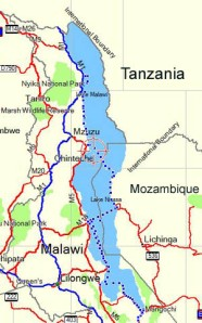Lake Malawi Map